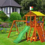 изготовление небольшой детской площадки с подъемной стенкой