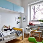 светлая детская мебель для мальчика в детскую спальню дизайн