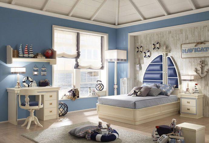 светлая мебель для мальчика в детскую комнату фото