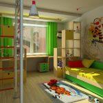 яркая детская мебель для мальчика в детскую спальню пример фото