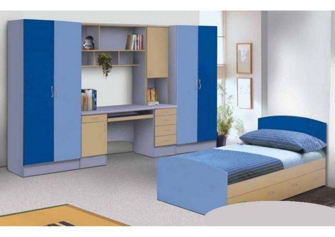 цветная мебель для мальчика в комнату пример фото