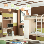 яркая детская мебель для мальчика в спальню дизайн