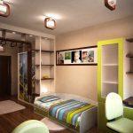 дизайнерская детская спальня для двух мальчиков интерьер картинка