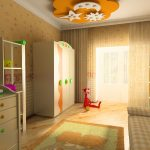 яркая детская комната для девочки интерьер