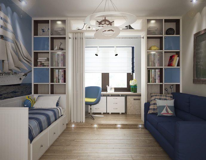 яркая детская комната небольших размеров фото дизайна