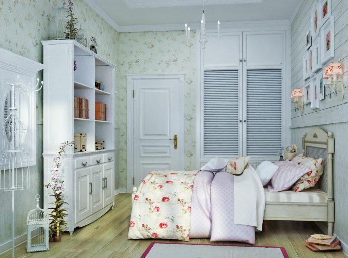 шикарная детская спальня в стиле прованс для принцессы фото