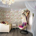 светлая спальня в дизайне прованс для принцессы картинка