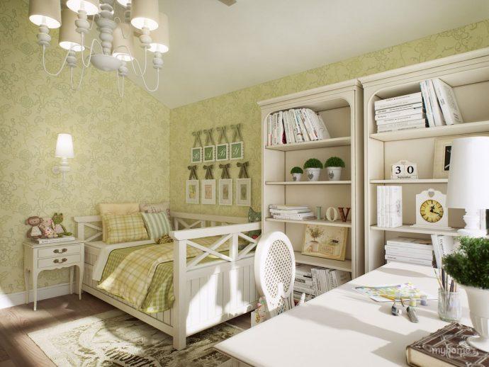 шикарная спальня в дизайне прованс для принцессы