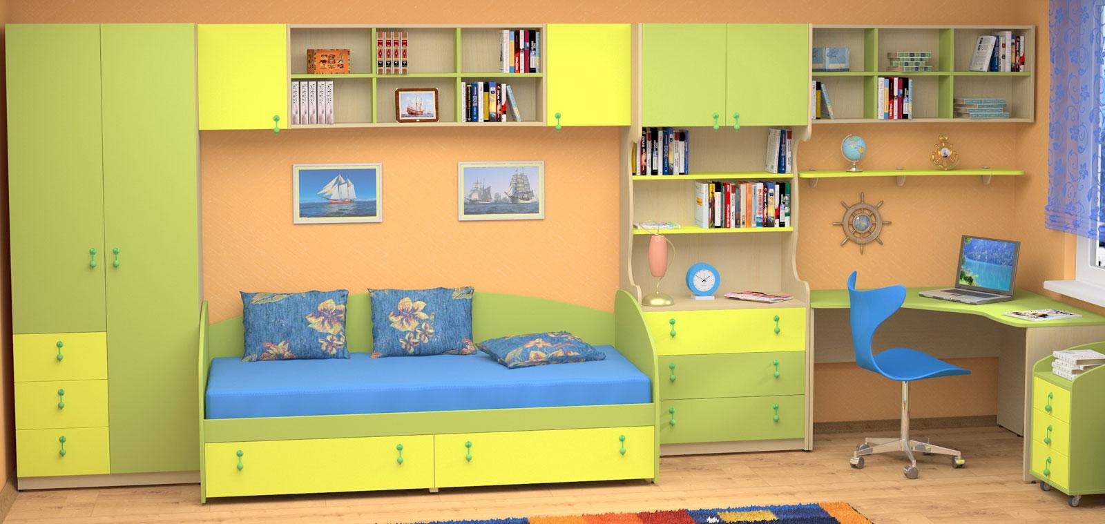 Поэтому можно смело ставить в интерьер детской комнаты даже двуспальную