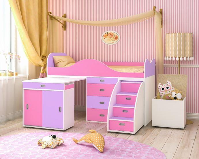 двухъярусная кровать чердак в дизайне комнаты