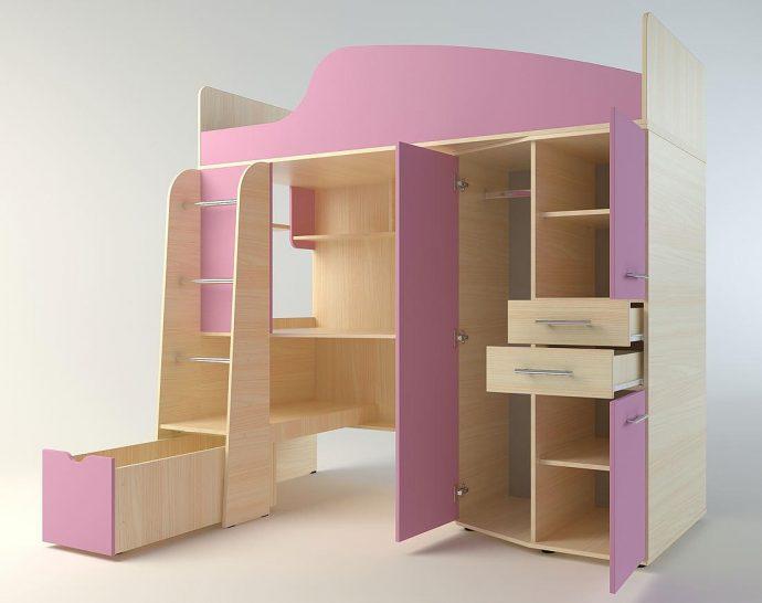 красивая детская кровать чердак в интерьере комнаты фото