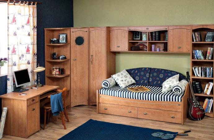 красивая мебель для мальчика в детскую спальню