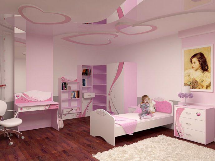 цветная мебель в детскую комнату для девочки