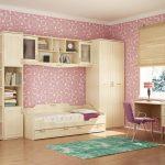 красивая детская мебель в детскую спальню для девочки фото