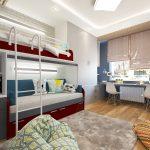 красивая спальня для мальчика маленькая пример дизайна