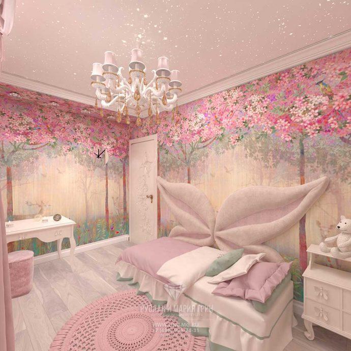светлая спальня девочки