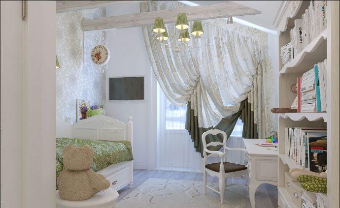 шикарная детская в стиле прованс для принцессы фото