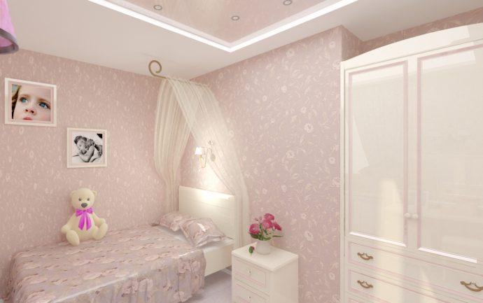 красивая детская спальня в стиле прованс для принцессы картинка