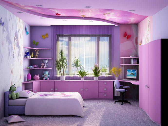 светлая мебель в детскую спальню для девочки фото дизайна