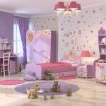 красивая функциональная мебель в спальню для девочки пример