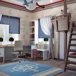 Детская комната для мальчика 12 кв. м. Дизайн, фото, примеры