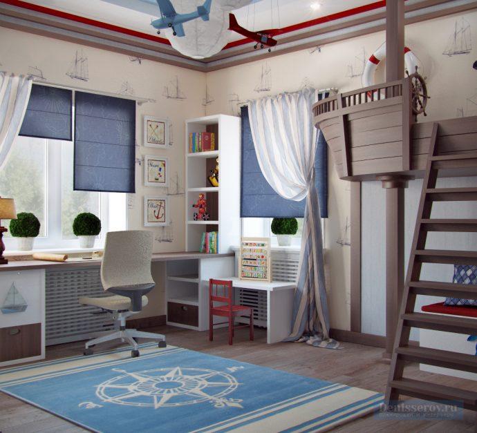 небольшая детская комната небольших размеров пример дизайна