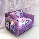 большая диван кровать для детей в комнате фото пример