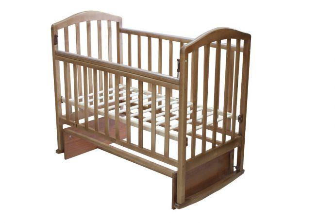 большая детская кроватка трансформер маятник для девочки из дерева
