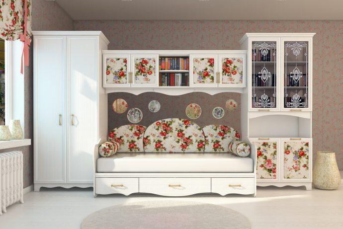 цветная мебель в детскую для девочки фото