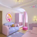 светлая спальня для девочки интерьер