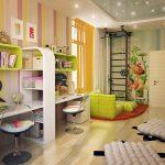 красивая детская комната для двух мальчиков интерьер фото