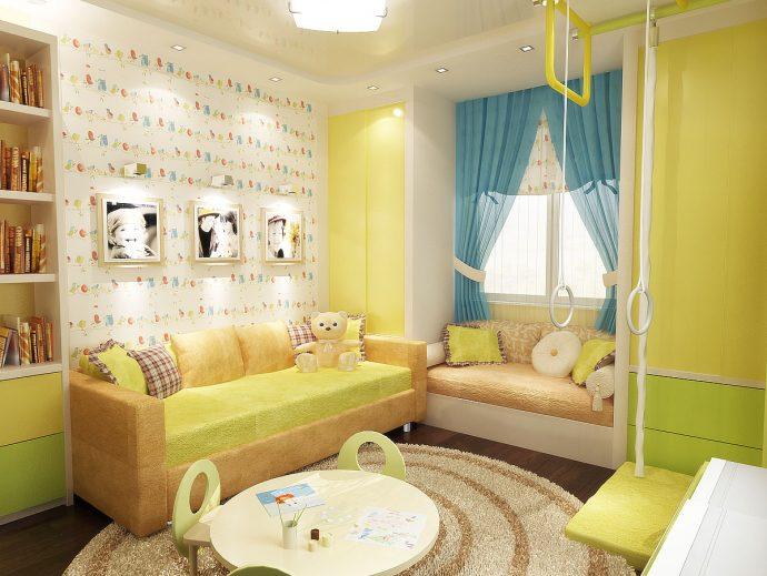 небольшая детская комната для мальчика небольших размеров