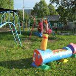 необычный игровая площадка для детей из массива дерева