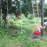 большой детская площадка для ребенка из дерева
