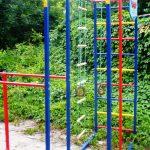 большой игровая площадка для детей из дерева