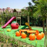 большая детская площадка сделана собой на даче