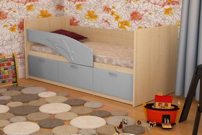 большая кровать дельфин в детской комнате