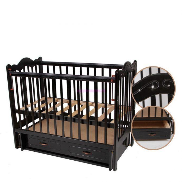 большая кровать маятник для девочки из дерева