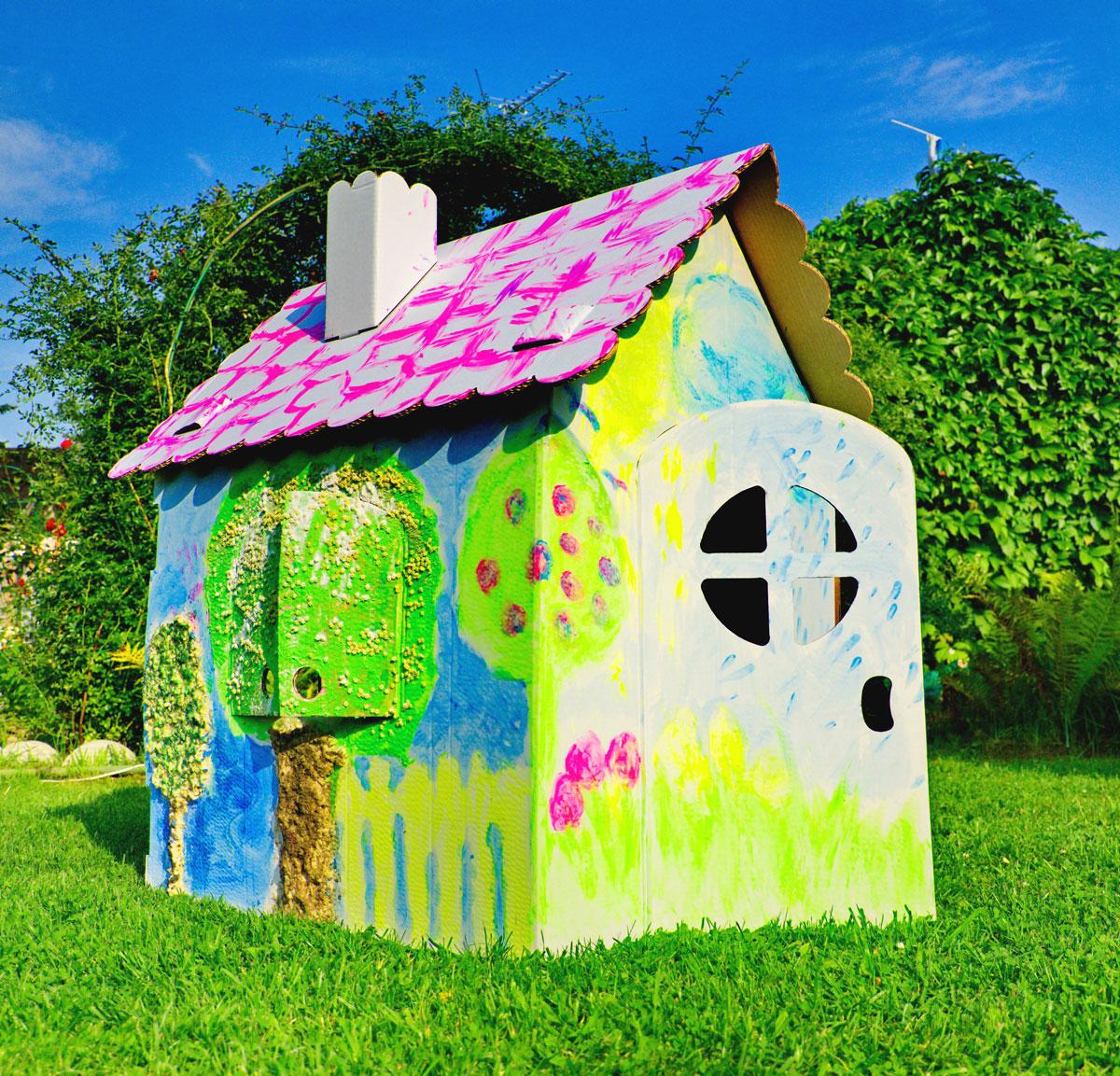 Как сделать игровой домик для детей своими руками на даче Игрушечные домики на даче своими руками фото