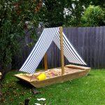 пример песочницы во дворе на даче без зонта