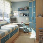 строгая спальня для мальчика небольших размеров пример дизайна