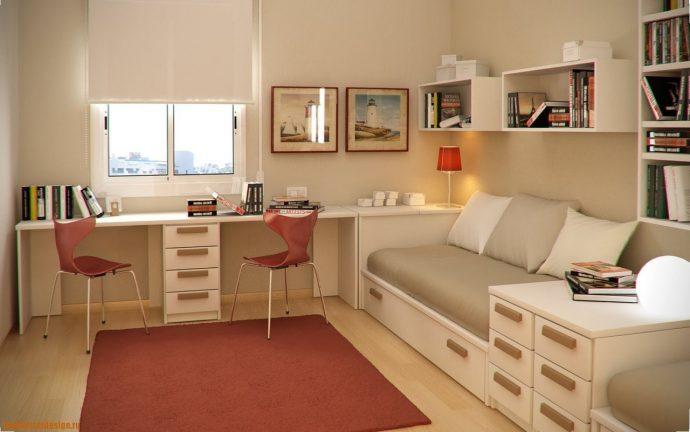 строгая спальня для мальчика небольших размеров фото