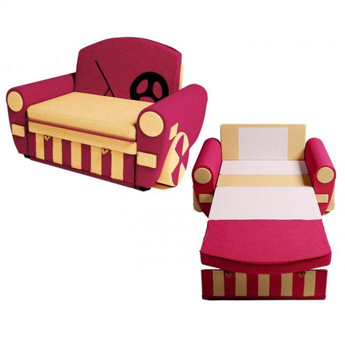 большая диван кровать для детей в спальне фото