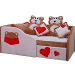 небольшая кровать для детей в спальне фото пример