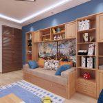 красивая детская комната для мальчика маленькая пример дизайна