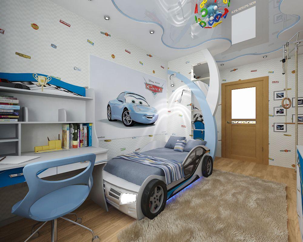 Детская комната для мальчика дизайн фото в 181
