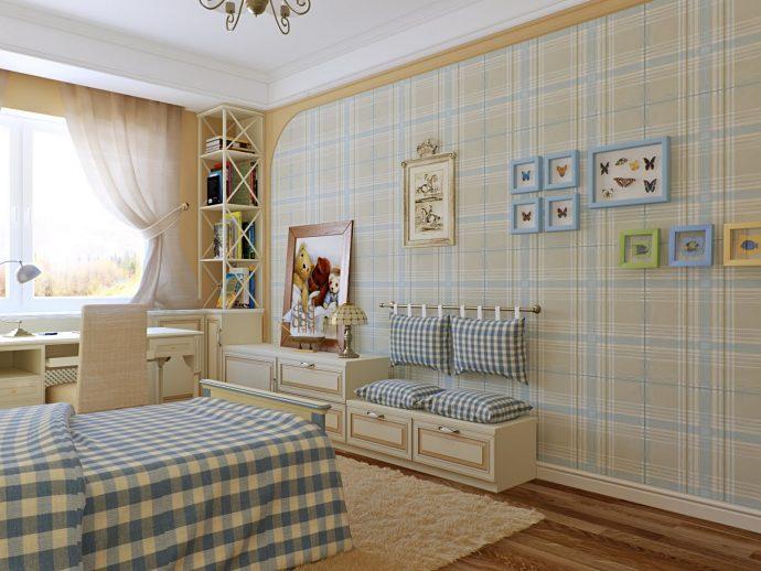необычные обои в детскую комнату с рисунками дизайн