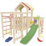 интересный детская площадка для ребенка из дерева