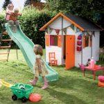 интересный детская площадка для детей из дерева