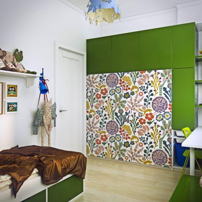 необычная комната в скандинавском стиле